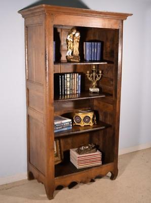 Early 1700's French Antique Louis XIV Period Bookcase in Solid Oak