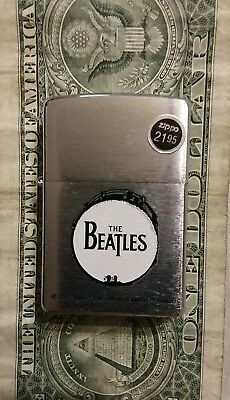 Zippo Lighter Brushed Chrome Finish Drum The Beatles 2002 excellent condition