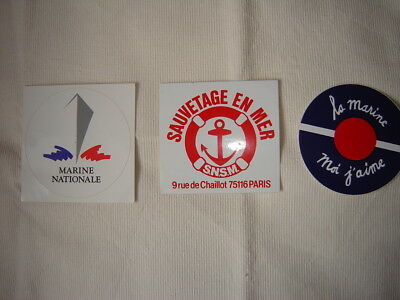 Lot Autocollants Marine Nationale - Snsm Sauvetage En Mer