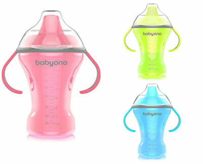 BABYONO 260ml SIPPY DRINKING CUP BABY TODDLER Kids  NATURAL NURSING SPILL FREE