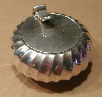 Personal Silver Plated Covered Ashtray