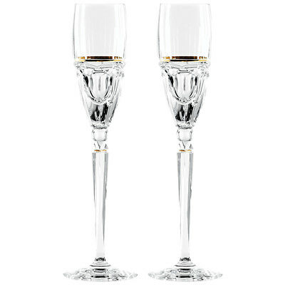 WATERFORD CRYSTAL 2 x ELYSIAN Champagne Flutes - New