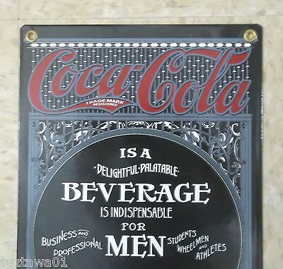 Coca Cola For Men & Ladies Sign Advertising Porcelain Sign Wall Decor Mancave