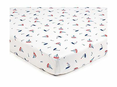 BreathableBaby Super Dry Cot Sheets In Seaside (Pack of 2)