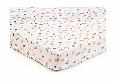 BreathableBaby Super Dry Cot Bed Sheets In Enchanted Forest (Pack of 2)
