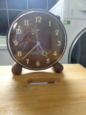 Matamec Dereham Wind Up Art Deco Mantel Clock Made in England Fully Working