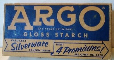 Argo Gloss Starch Silvrtware  Box Full Mfd. By Corn Products Co. New York, N,Y.