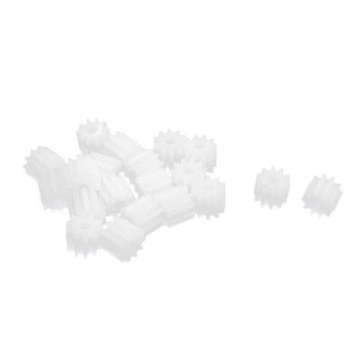 20 Pieces 6mm x 2mm 10 plastic teeth sprocket box for toy car engine shaft V5L9
