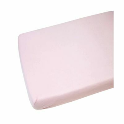 2x Fitted Sheets Compatible With Chicco Next 2 Me 100% Cotton - Pink