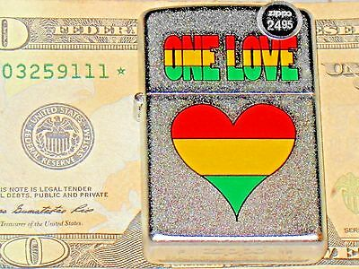 A New USA ZIPPO Windproof LIGHTER 34690 One Love Rainbow Heart Special Edition