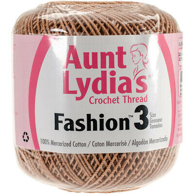 Coats Crochet Aunt Lydia's Fashion Crochet Thread Size 3-Copper Mist (3Pk)