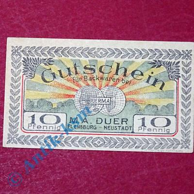 Notgeld M. A. Duer Flensburg , german emergency Money, M/G 366.1 A , kfr/unc