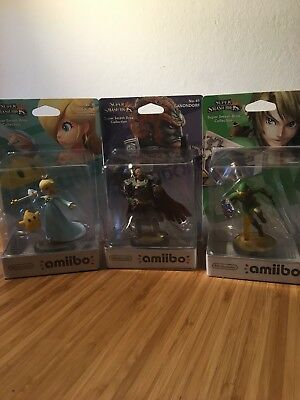 3 amiibo Link, Ganondorf, Rosalina OVP Super Smash Bros. Collection No.5, 19, 41