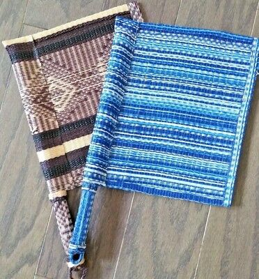 African Woven Fans Set of 2 from Senegal