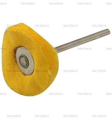 25 mm Yellow Mop Brush Felt Cloth Polishing Rotary Drill Bit Wheels Buffing Pad