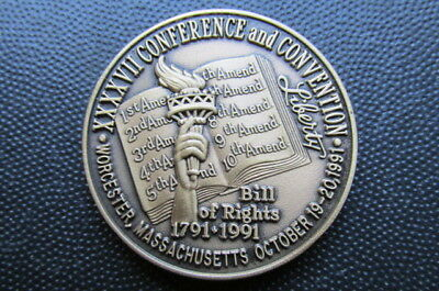 NENA Convention Medal: 47th Convention, 1991. Edge Numbered: #35
