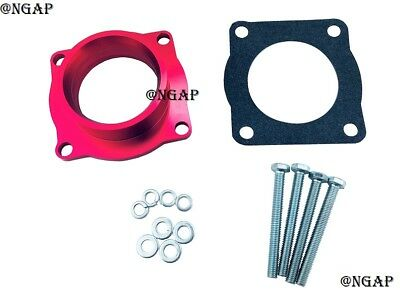 Silver Anodized Billet Aluminum Throttle Body Spacer fit 08-12 Accord 2.4L K24Z
