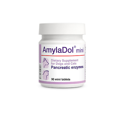AmylaDol - Pancreatic / Digestive Enzymes for CATS & small DOGS 90 mini-tablets