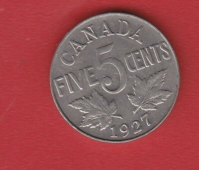 Canada 5 Cents 1927