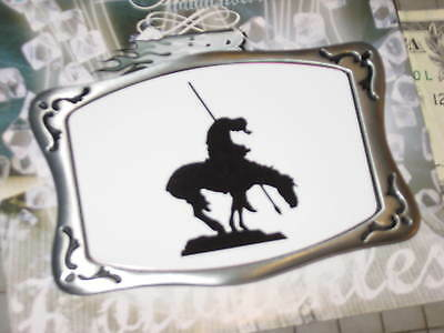 Hot Buckles End of the Trail Proud Pewter Belt unisex USA Horse Rider lance West