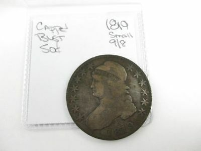 U.S. Capped Bust Half Dollar Coin 1819 Small 9/8