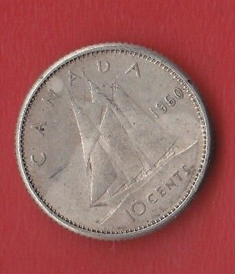 Canada 10 Cents 1960 Silver