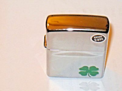 USA Windproof Zippo Lighter a Bit O Luck Clover 4 H St Patrick's Green Shamrock