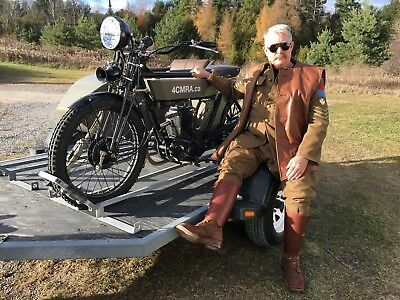 Custom Built Motorcycles: Other 1917 Dispatch Riders Motorcycle with Side Car - Replica