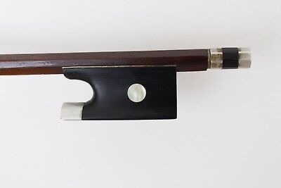 "Beautiful old antique 4/4 violin bow stamped ""Bausch"" c. 1900"