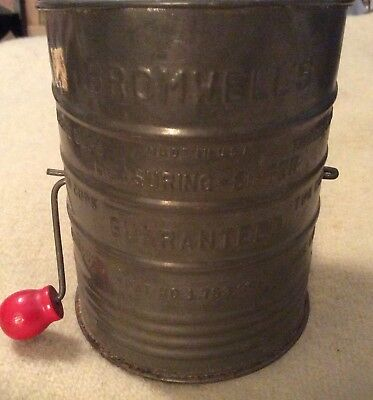 Antique Bromwell's 3 Cup Measuring Flour Sifter