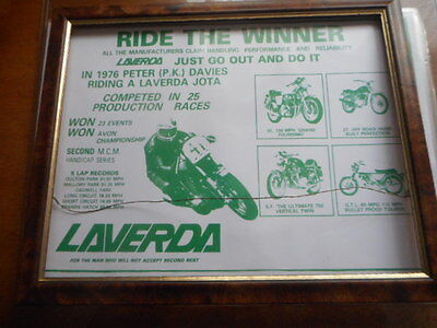 """Laverda ; """"Ride the Winner""""- frame is not included"""