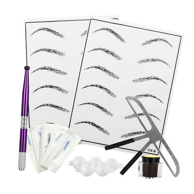 Microblading Permanent Makeup Augenbraue Lineal Tattoo Nadel Pen Pigment Kit