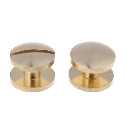 6 Pcs Arc Solid Brass Button Stud Nail Screw back for Hand Leather Accessory