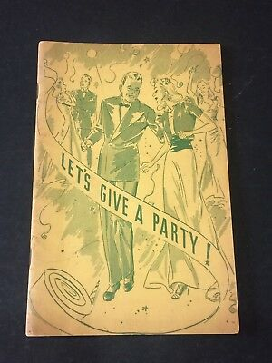 "HOFFMAN Beverage Co. ""Let's Give A Party"" VTG Advertising Book~Recipes, Games"