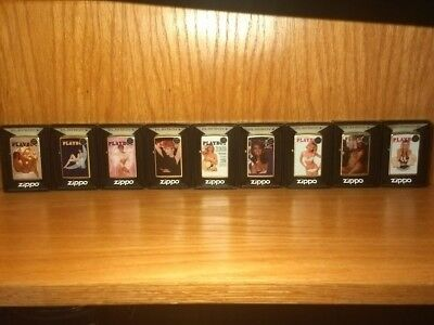 Rare Playboy Playmate Zippo Lighters Complete Matched Set Of Nine # 32/250 Made