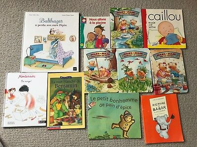 Lot of 11 French Children books