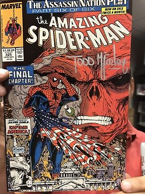 Todd McFarlane SIGNED Amazing Spider-man #325 (VF)