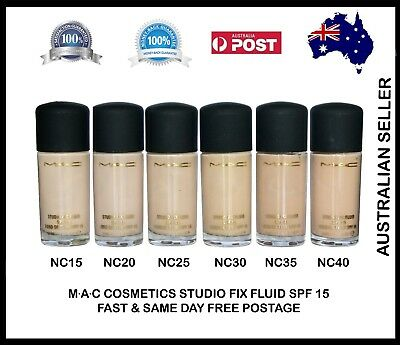 MAC Studio Fix Fluid Foundation Boxed 30 ml - Choose Any One