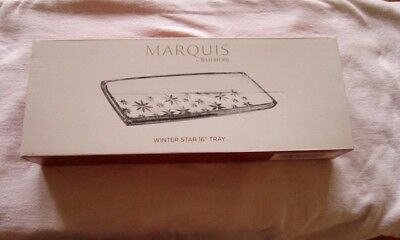 """Marquis by Waterford Winter Star 16"""" Crystalline Rectangular Tray New in Box!"""