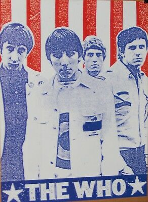 The WHO Red White and Blue Group Shot Original Promo Poster ROGER DALTRY
