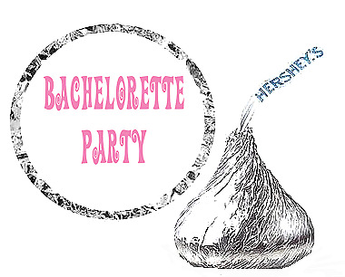 216 Bachelorette Party Favor Hershey's Kisses Stickers New