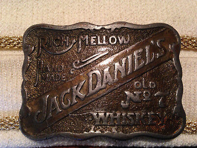 Vintage Old # 7Jack Daniels Distillery solid brass belt buckle  #D3827