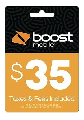 Boost Mobile $35 Refill Card