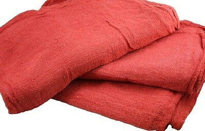 500 Pack New Industrial Commercial Standard Red Shop Cleaning Towel Rags 13X14
