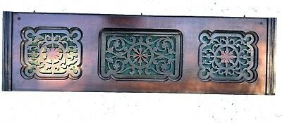 Vintage Header Pediment Entryway Mantel Mantle Interior Accents fretwork