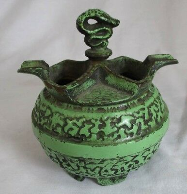 ALFRED DUNHILL OF LONDON CAST IRON  ASHTRAY SNAKE TOP HONOLULU Rapid Transit Co.