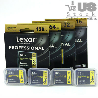 New Lexar 16/32/64/128GB 1066X Compact Flash CF Memory Card UDMA7 For Camera
