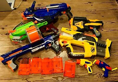 Nerf Dart Gun Lot - Used in working condition