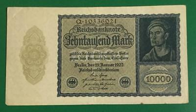 """1922 $10,000 Germany Marks """"VAMPIRE"""" NOTE! Old Paper Money Currency!"""