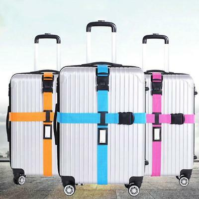 Luggage Strap Cross Belt Packing Adjustable Travel Suitcase Nylon 3 Digits Lock